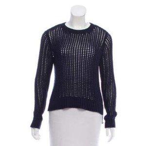 Michael Kors Navy Blue Crochet Sweater Preppy XS